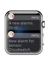 PRTG for Apple Watch Notifications