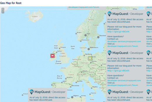 If your Geo Maps looks like this, change your map service provider