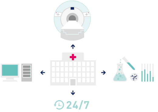 Hospitals have specialized requirements for a central monitoring and control solution