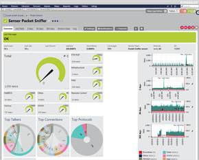 New Overview Page for Packet Sniffer and Flow Sensors - Toplists at a Glance