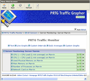 Web Interface of former IPCheck 5 and PRTG Traffic Grapher 5