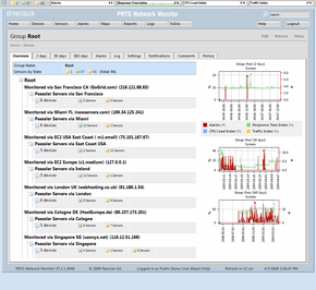 Web Interface of former PRTG Network Monitor 7