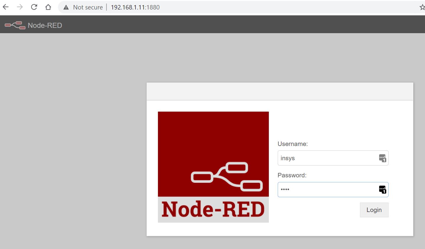 Node-RED-login-screen