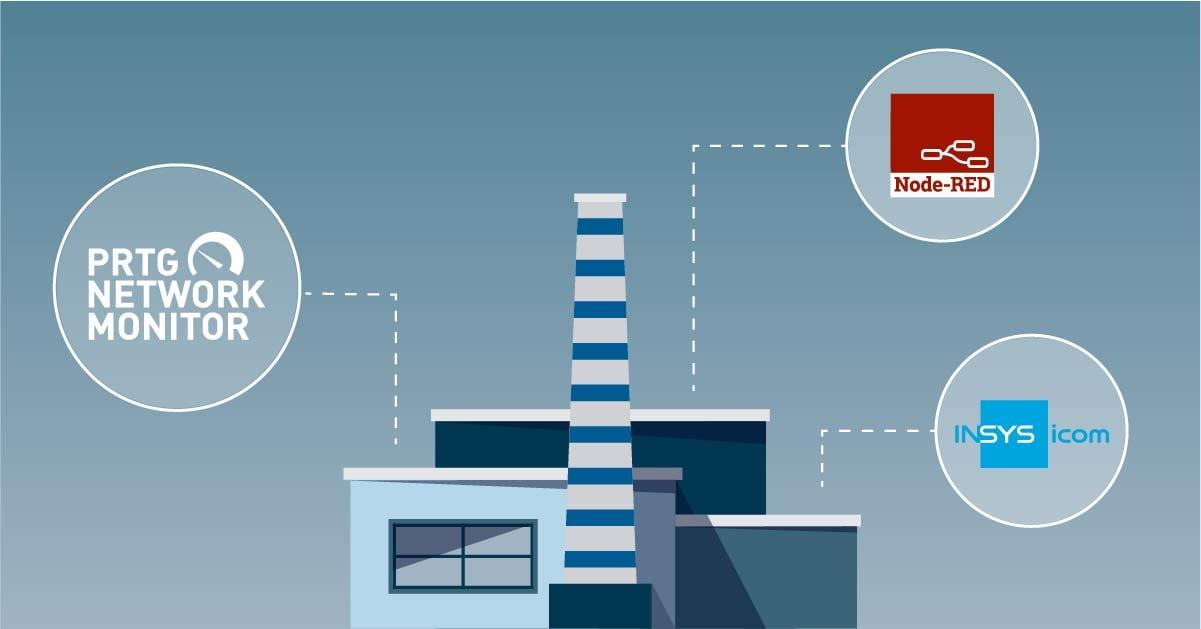 insys icom node red prtg monitoring ot data